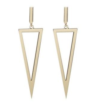 LILIE&WHITE Metal Triangle Danlge Drop Earrings For Women Costume Jewelry - Gold - CN17YIM97XQ
