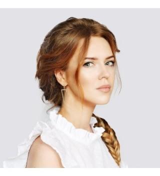 LILIE WHITE Geometric Triangle Earrings