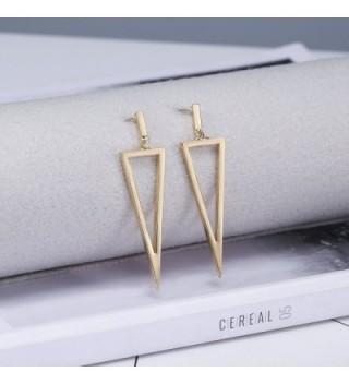 LILIE WHITE Geometric Triangle Earrings in Women's Drop & Dangle Earrings