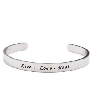 Nurse Gift Live Love Heal Cuff Bracelet RN Nursing Student Gift for Graduation - Bracelet - C0187R26SRS