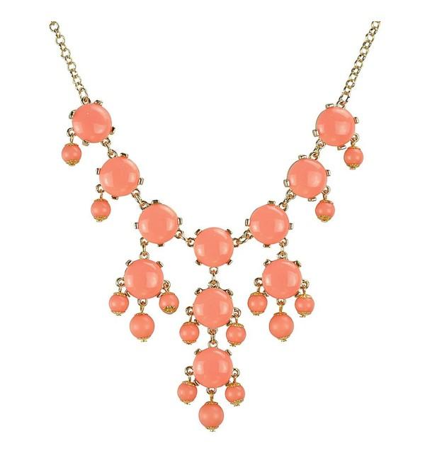 Jane Stone Small Bubble Necklace Y-Necklace Fashion Jewelry Statement Jewellery(Fn0626) - GM-Orange Red - CZ11ETJMK71