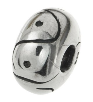 925 Sterling Silver Curve Dot Round Stopper Clip Lock Bead For European Charm Bracelets - CT11D31E5HT