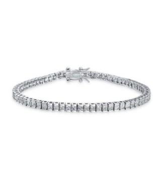 Bling Jewelry Channel Set CZ Classic Sterling Silver Tennis Bracelet 7.5in - CY11E474USP