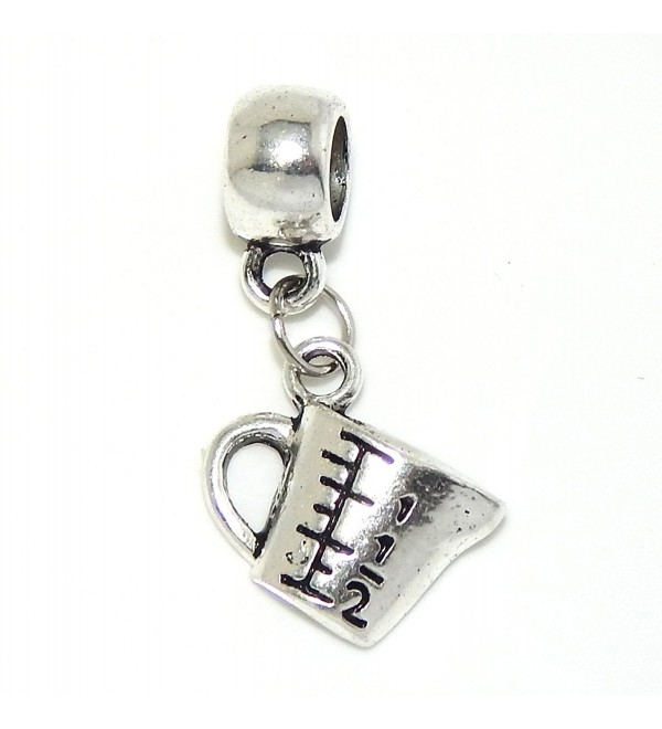 "Jewelry Monster Dangling ""Measuring Cup"" Charm Bead for Snake Chain Charm Bracelet - CP11T9TEK7T"