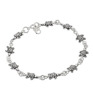 Turtles Inspired Sterling Silver Bracelet