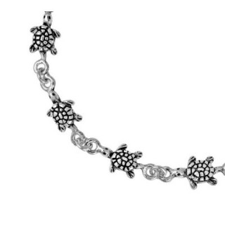 Turtles Inspired Sterling Silver Bracelet in Women's Link Bracelets