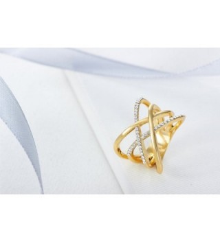 FAPPAC Crossover Entwined Enriched Swarovski in Women's Statement Rings