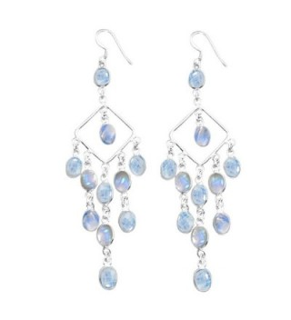 22 00ctw Moonstone Silver Sterling Jewelry - Rainbow Moonstone - CX126B91LET