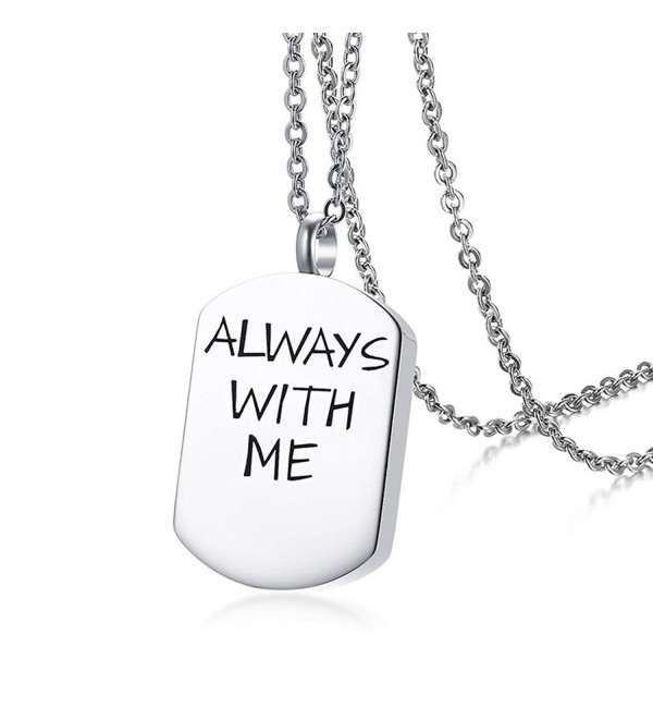 TTVOVO Stainless Steel Pendant Cremation - ALWAYS WITH ME-Steel - CO1802Z0E6L