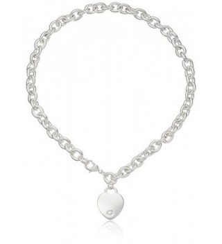 GUESS Womens Heart Charm Necklace - Silver - C31160FKNCL