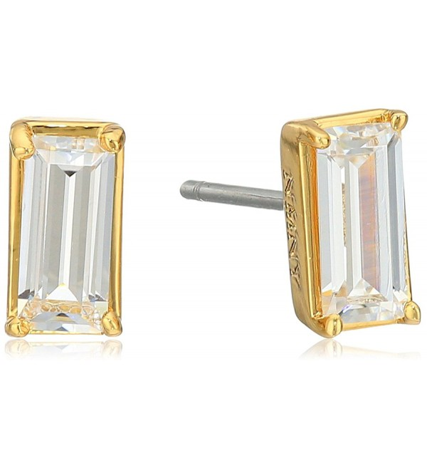 Nicole Miller Sweet Baguette Stud Earrings - Gold - CK12NE397XH