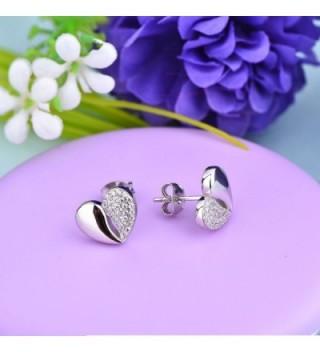 Earrings YL Sterling Zirconia Earrings White Girlfriend in Women's Stud Earrings