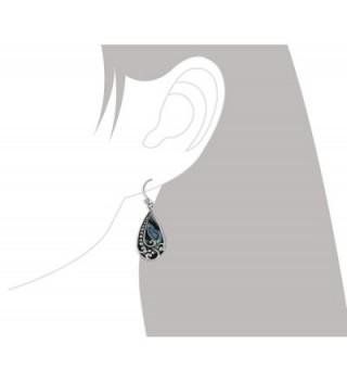 Sterling Silver Abalone Teardrop Earrings in Women's Drop & Dangle Earrings