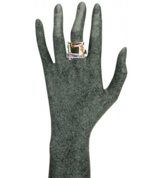JanKuo Jewelry Silver Combination Multi Color in Women's Statement Rings