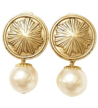 Shaune Bazner Gold-Plated Clip-on Earrings E-C7-9-GC - CH185DON3QL
