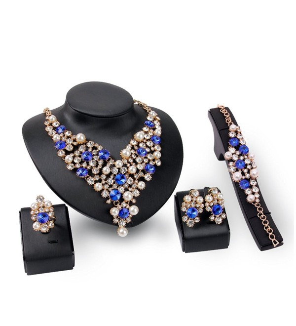 EVERRICH Luxurious Simulated Statement Necklace - CI182SH4MSM