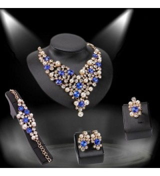 EVERRICH Luxurious Simulated Statement Necklace
