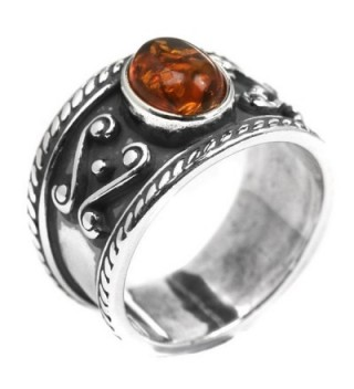 Amber Sterling Silver Band Style Ring - C6116T4M8LH