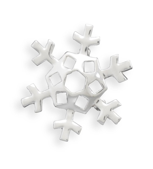 Snowflake Fashion Pin or Pendant Silver-plated - C4112X0VSTJ