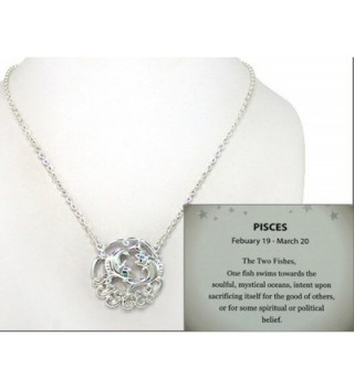 "Zodiac Symbol Silver-tone Chain 18"" Necklace With Crystals in a Gift Box by Jewelry Nexus - CL11HNJQWIH"