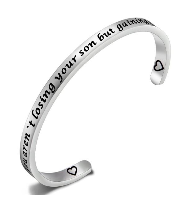 SEIRAA Mother-in-law Bracelet Wedding Gift for Mother Cuff Bracelet Perfect Gift for Mother of The Groom - CB184X7YA2C