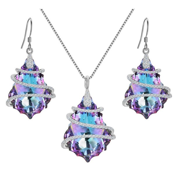 EVER FAITH Sterling Baroque Swarovski - 1-Vitrial Light Purple - CI17YTI68YR