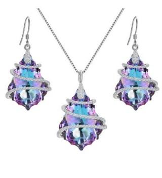EVER FAITH Sterling Baroque Swarovski - 1-Vitrial Light Purple - CI17YTI68YR