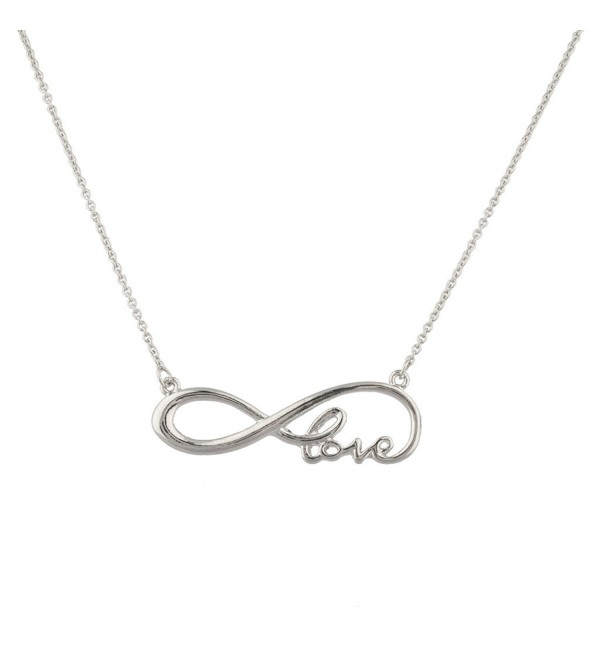 Lux Accessories Love You To Infinity And Back Cursive Pendant Necklace. - CX11WJLGHM5