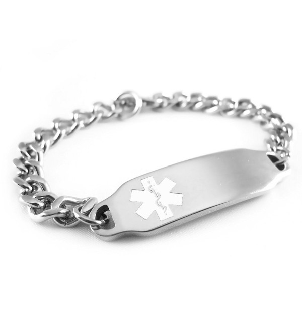 MyIDDr - Pre-Engraved & Customizable Coumadin Medical Alert ID Bracelet- White Symbol - CQ116JS81U5