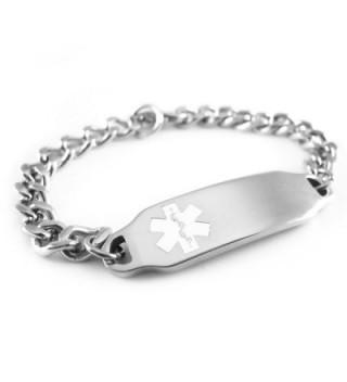 MyIDDr - Pre-Engraved & Customizable Coumadin Medical Alert ID Bracelet- White Symbol - CQ116JS81U5