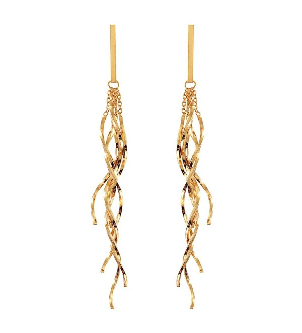 Dangle Earrings for Women Long Earrings Drop Fashion Silver Gold - gold - CB186ZINNCT