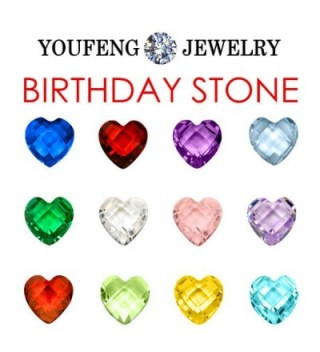 Floating Pendant Necklace Birthstone Include in Women's Lockets