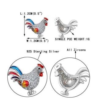 EVER FAITH Sterling Multicolor Earrings in Women's Stud Earrings