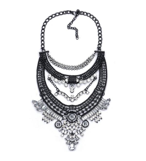Statement Necklace Black White NABROJ - Black and White - CO180HACZOO