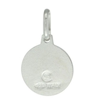 Dainty Sterling Silver Medal Necklace