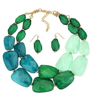 Rosemarie Collections Polished Statement Necklace