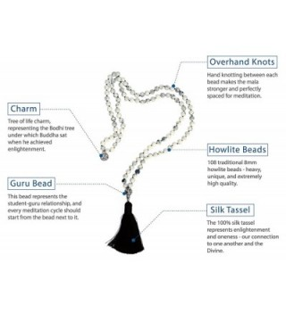 Japa Mala Beads Long Necklace in Women's Strand Necklaces