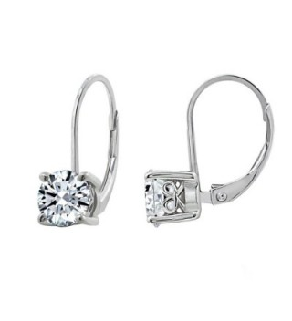 DIAMONBLISS Sterling Silver Swarovski Zirconia Leverback Earrings-(1.5 cttw) - C6188YTAD4W