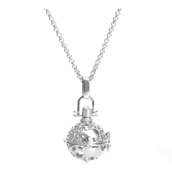 Candyfancy Elephant Mexican Pregnancy Necklace - Silver Inner Ball - C212NYKQU1E