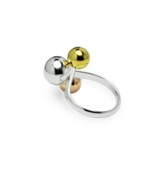 Tricolor Graduated Ball Cocktail Ring in Women's Statement Rings