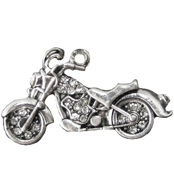 Motorcycle Clear Crystal Charm Only Jewelry Assembly Beads Craft Supplies Biker - CU11TYTVP1D