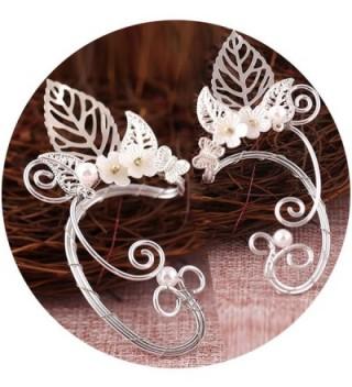 Elf Ear Cuffs- Aifeer 1 Pair Pearl Beads Filigree Fairy Elven Cosplay Fantasy Costume Handcraft Earring - CK17Z53INL8