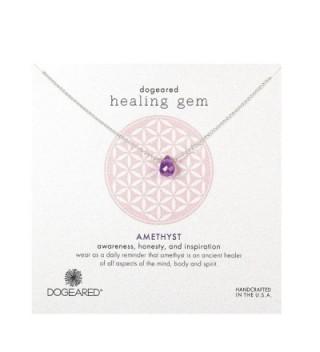 Dogeared Lasting Healing Gems Amethyst Pendant Necklace - Gold - CM11IZCBAGT