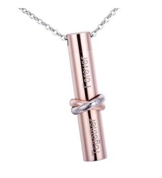 HooAMI Cremation Together Cylinder Necklace