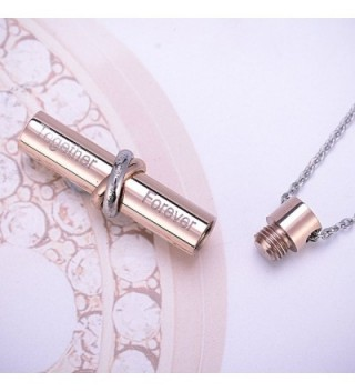 HooAMI Cremation Together Cylinder Necklace in Women's Pendants