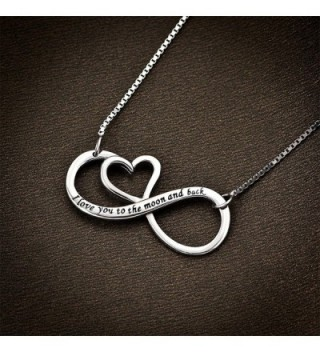 CoolJewelry Sterling Infinity Pendant Necklace