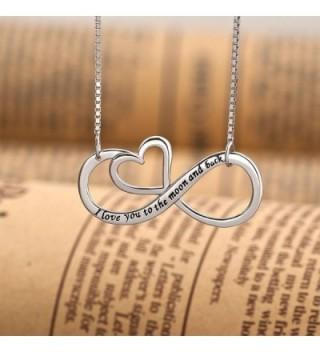 CoolJewelry Sterling Infinity Pendant Necklace in Women's Pendants