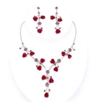 Faceted Crystal Rhinestone Necklace Earring