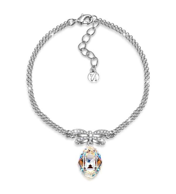 """J.NINA """"Princesse de Monaco"""" Bowtie Dangle Bracelet with Swarovski Crystals. Jewelry for Women - CA12OC2P3CB"""