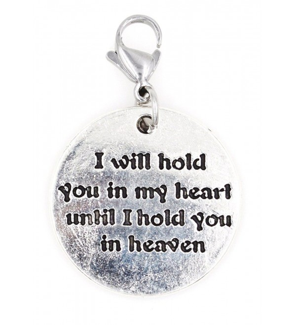 I Will Hold You in My Heart Until I Hold You in Heaven Stainless Steel Clasp Clip on Charm SSCL 78K - C2186AZOI89